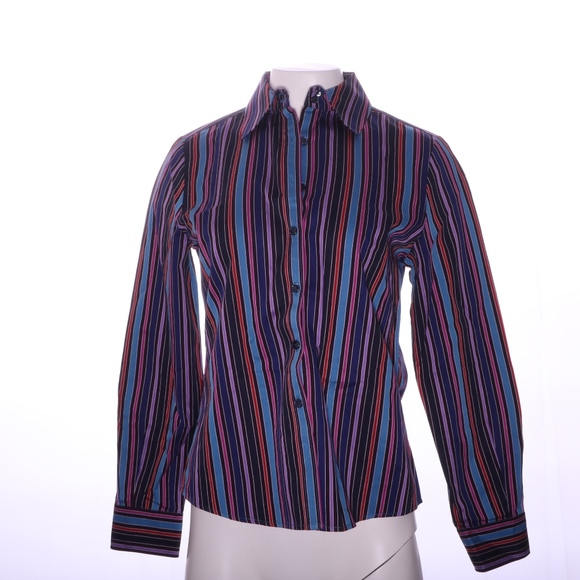 Faconnable Tops - Faconnable Button Up Lined Shirt Womens S